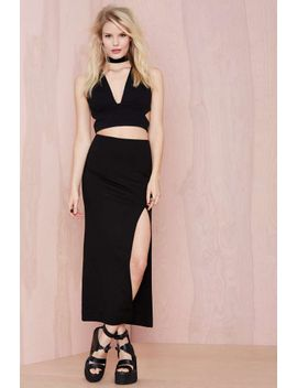 nasty-gal-just-enough-midi-skirt by nasty-gal