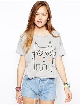 asos-t-shirt-with-sketchy-cat by asos-collection