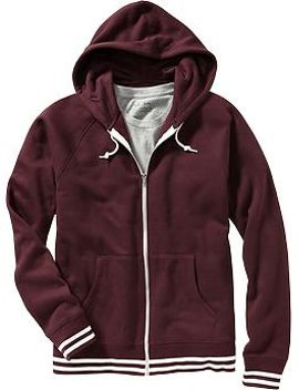 mens-striped-trim-zip-front-hoodies by old-navy