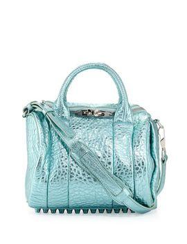 rockie-dumbo-crossbody-satchel-bag,-green-metallic by alexander-wang