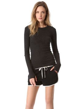 cuffed-crew-neck-top by enza-costa