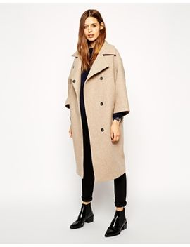 asos-coat-in-cocoon-fit-with-kimono-sleeve by asos-collection