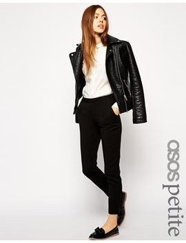 asos-petite-skinny-trousers-with-zip-detail by asos-petite