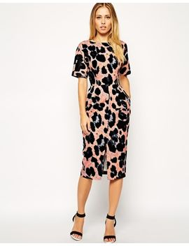 asos-wiggle-dress-in-animal-print by asos-collection