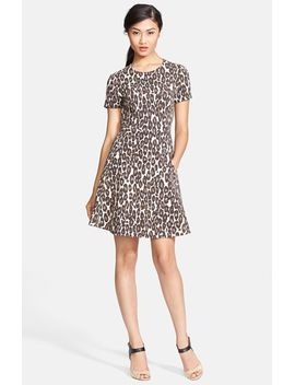 autumn-leopard-fit-&-flare-dress by kate-spade-new-york