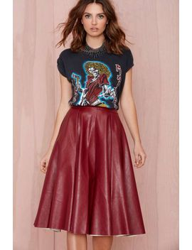 "<Span Itemprop=""Name"">Joa Tara Vegan Leather Skirt   Burgundy</Span> by Nasty Gal"