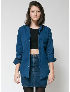 unisex-denim-long-sleeve-button-up-with-pocket by american-apparel