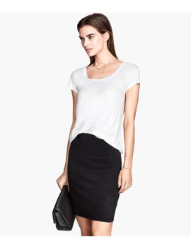 skirt-in-a-textured-knit by h&m