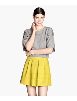 jacquard-weave-skirt by h&m