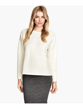 textured-sweatshirt by h&m