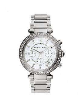 parker-silver-tone-watch by michael-kors