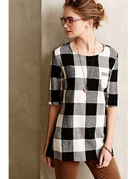 newsprint-plaid-tunic by anthropologie