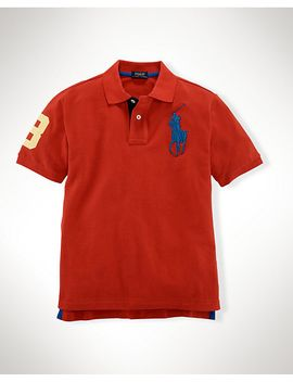 big-pony-cotton-mesh-polo by ralph-lauren
