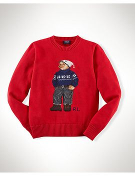 bear-cotton-crewneck-sweater by ralph-lauren