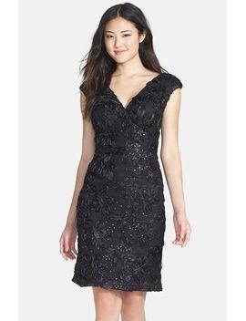 embellished-lace-sheath-dress by marina
