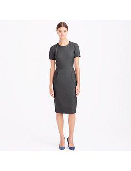 zip-shoulder-dress-in-super-120s-wool by jcrew