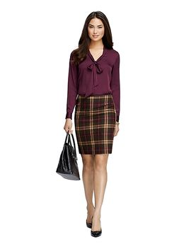 bow-front-silk-blouse by brooks-brothers