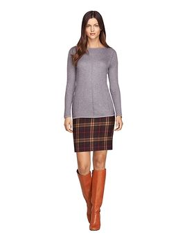 wool-plaid-pencil-skirt by brooks-brothers