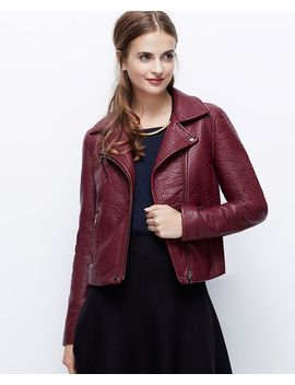 faux-leather-moto-jacket by ann-taylor