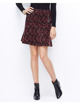textured-tweed-flounce-skirt by ann-taylor