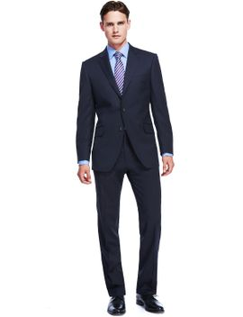 sustainable-pure-organic-wool-2-button-suit by marks-&-spencer