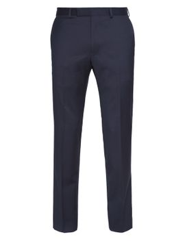 pure-organic-wool-flat-front-trousers by marks-&-spencer