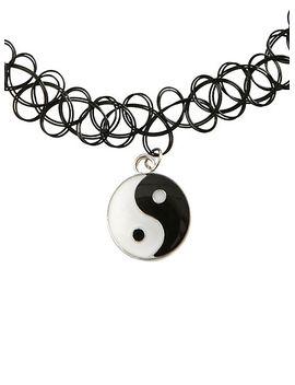yin-yang-charm-tattoo-choker by hot-topic