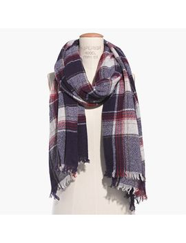 rangeplaid-scarf by madewell