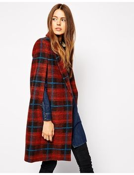 asos-coat-with-cape-sleeve-in-check by asos-collection