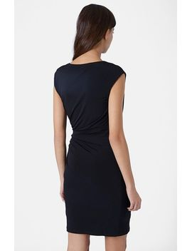 twist-drape-body-con-dress by topshop