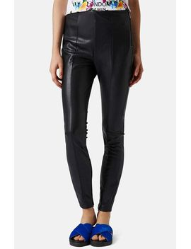 faux-leather-trousers by topshop