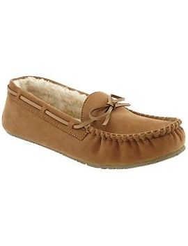 womens-sueded-sherpa-moccasins by old-navy