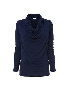 bell-cowl-neck-jersey-top by lkbennett