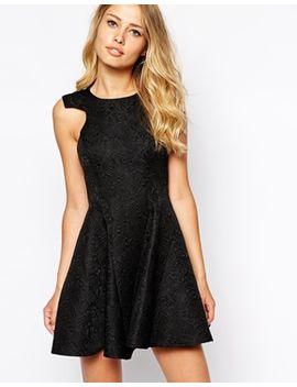 ginger-fizz-kiss-goodnight-dress-with-full-skirt-in-jacquard by ginger-fizz