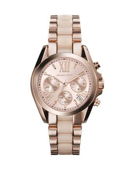 mini-rose-golden_blush-stainless-steel-bradshaw-chronograph-watch by michael-kors