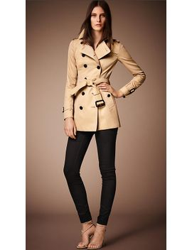 the-sandringham-–-short-trench-coat by burberry
