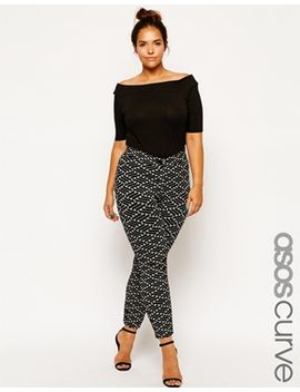 asos-curve-exclusive-treggings-in-geo-texture by asos-curve