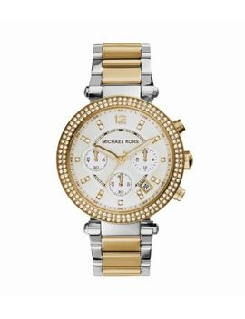 parker-two-tone-stainless-steel-watch by michael-kors