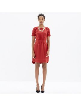 silk-cinch-waist-dress by madewell