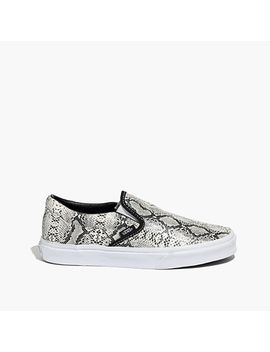vans®-classic-slip-ons-in-snake-print by madewell