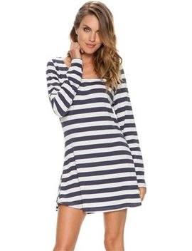 swell-siren-striped-skater-dress by general
