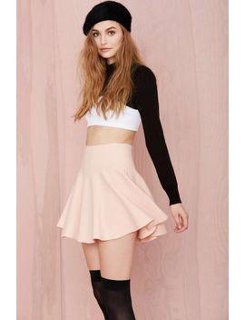 "<Span Itemprop=""Name"">Cream Of The Crop Skirt   Blush</Span> by Nasty Gal"