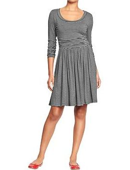 womens-side-shirred-fit-&-flare-dresses by old-navy
