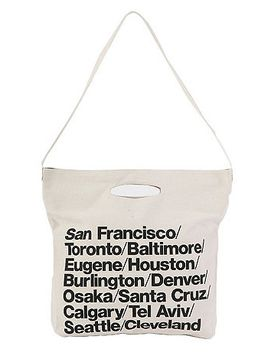 cities-print-denim-oversized-tote by american-apparel