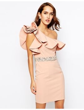 forever-unique-frill-pencil-dress-with-embellished-waist by forever-unique