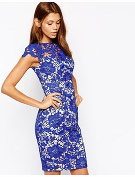 lipsy-vip-pencil-dress-in-lace-overlay by lipsy