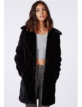 ana-faux-fur-jacket-black by missguided