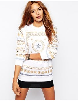 criminal-damage-oversized-sweatshirt-with-star-chain-print by criminal-damage
