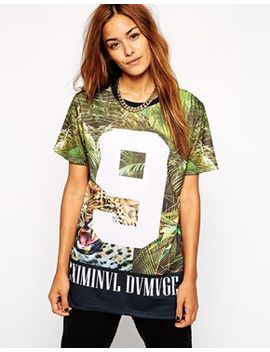 criminal-damage-oversized-t-shirt-with-palm-jungle-print by criminal-damage