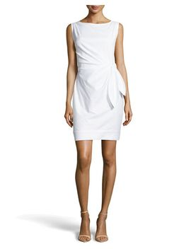 tie-waist-poplin-sheath-dress,-white by diane-von-furstenberg